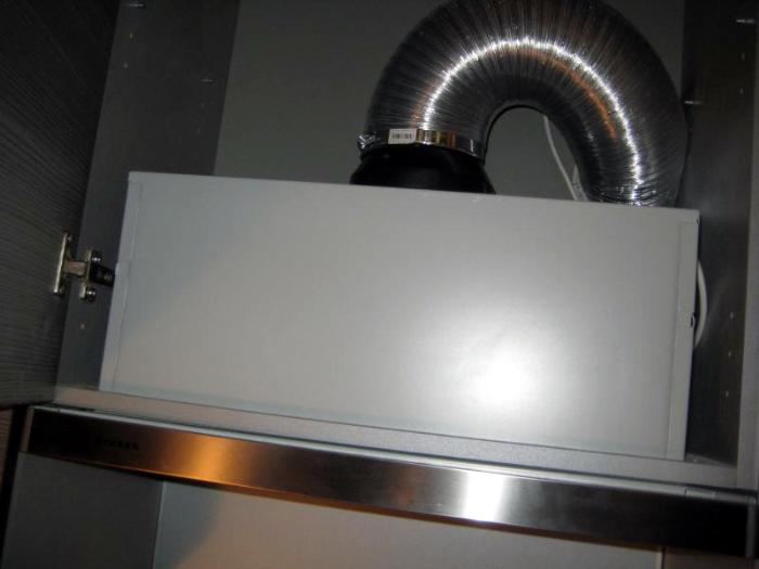 Установка вытяжки на кухню