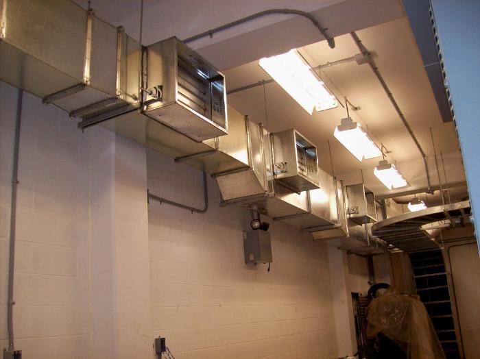 Естественная вентиляция промышленного типа