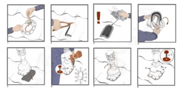 Схема монтажа вентиляционного выхода
