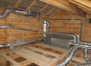 Система узлов вентиляции в фольгированной теплоизоляции