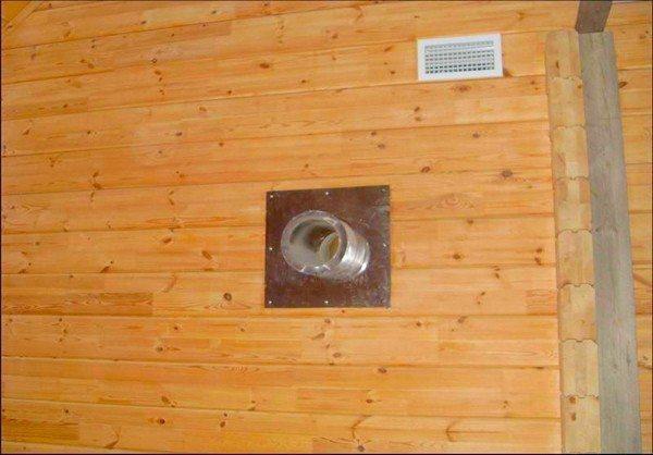 Вентиляция в ванной в деревянном доме должна обеспечивать воздухообмен на уровне 50 м3/ч