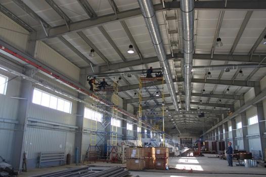 Вентиляция склада из металлоконструкций