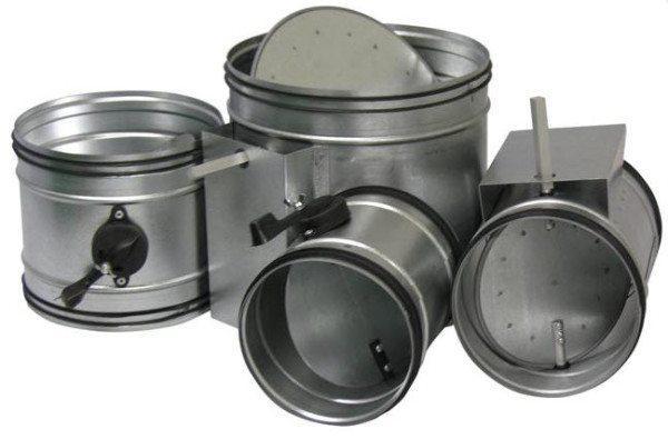 На фото – варианты механических устройств для вентиляции круглой формы