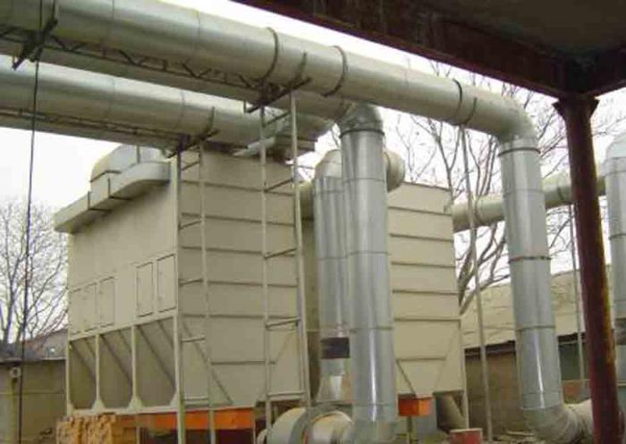 циклон для очистки промышленной вентиляции лесопиьлного производства