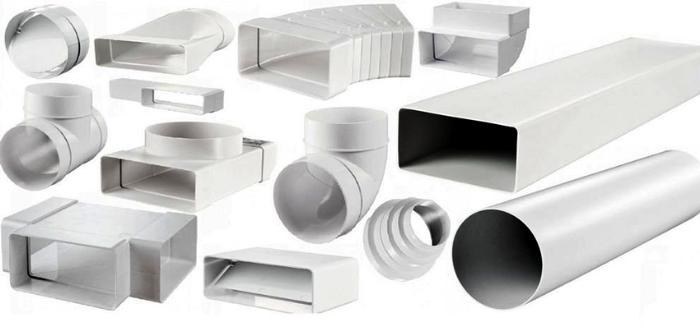 Пластиковые вентиляционные короба для вытяжки легко устанавливать