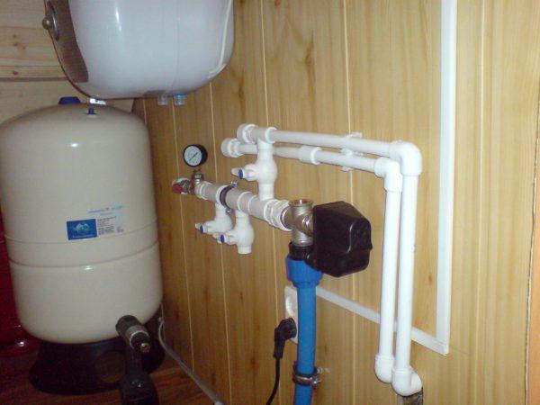 Водоснабжение в деревянном доме