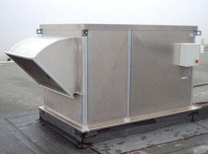 Крышная вентиляционная установка, принудительно обеспечивает отток загрязненного воздуха нуружу.