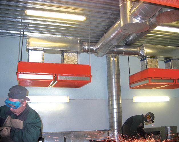 Вентиляционная система в сварочном цеху