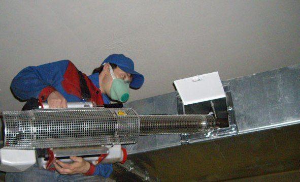 Обеззараживание промышленного воздуховода