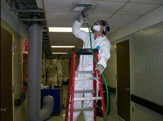Выведение пыли из воздуховода