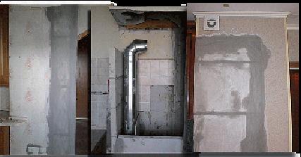 Демонтаж кухонной вентиляции перед её восстановлением