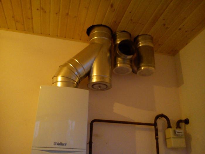 Вытяжная принудительная вентиляция - более безопасный вариант в котельной