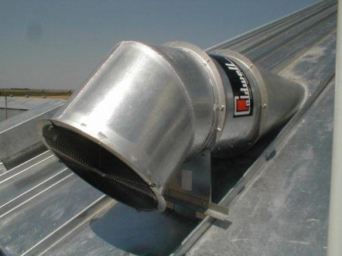 Применение канального вентилятора