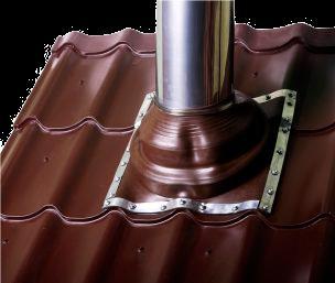 Проход через крышу вентиляционной трубы