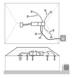 Схема установки приточно-вытяжной вентиляции