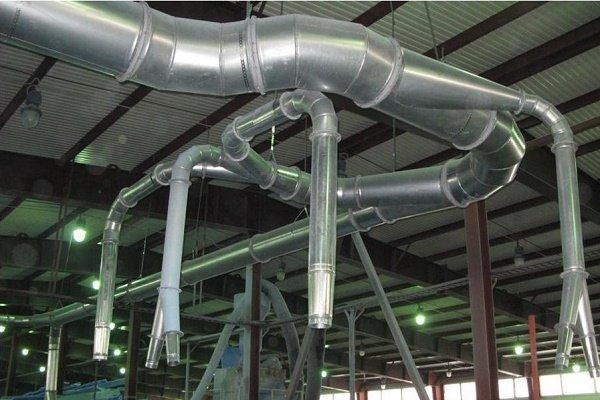 Приточно-вытяжные схемы в производственных помещениях