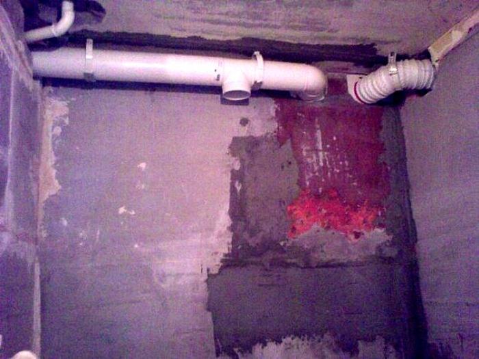Разводка вентиляционного канала из ванной комнаты в канал на кухне