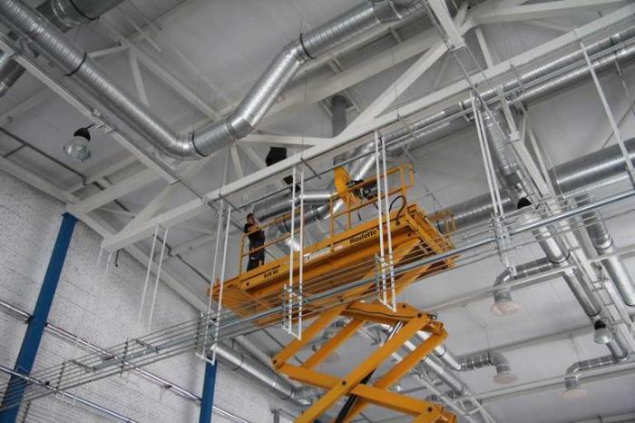 Вентиляции в промышленных помещениях