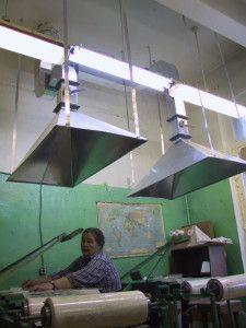 вытяжные зонты для локальной вентиляции цеха