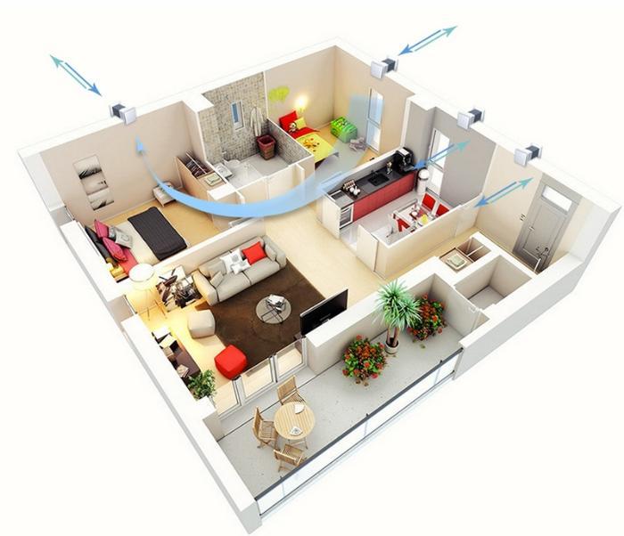 Приточная вентиляция в квартире своими руками