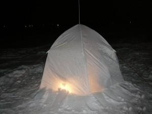Зимняя палатка своими руками: как изготовить?