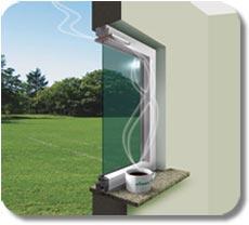 Оконный клапан для вентиляции помещения