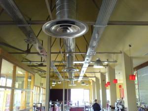 Система вентиляции в кафетерии
