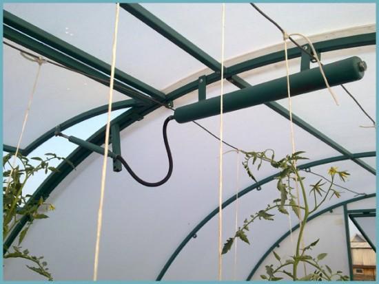 гидравлическая система проветривания для теплицы с большой площадью
