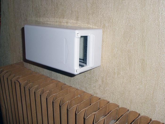 Клапан установленный в стене