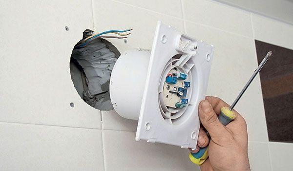 Подключение вентилятора в ванной