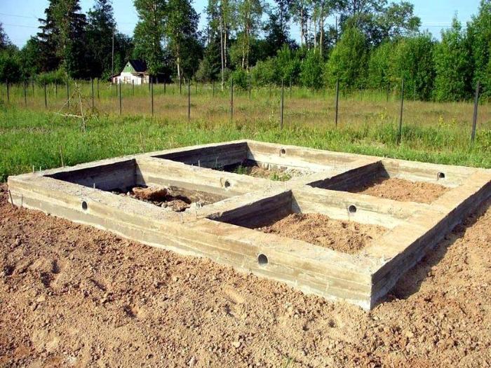 Вентиляционные каналы в фундаменте располагают с учетом размещения конструкции относительно жилых зданий и водоемов