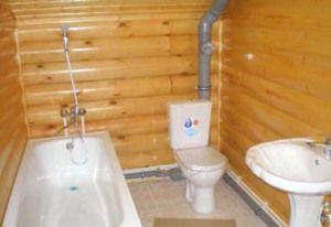 санузел деревянного дома