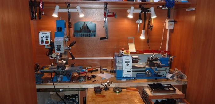 Обустройство мастерской своими руками   Освещение мастерской