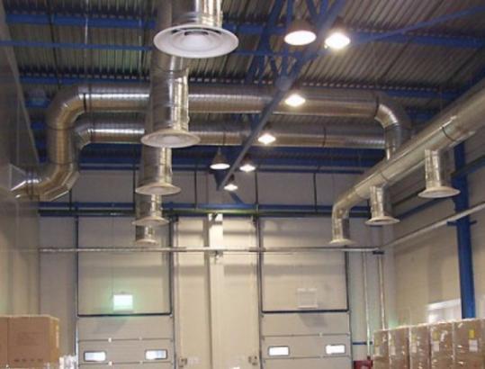 Пример проекта вентиляции производственного помещения