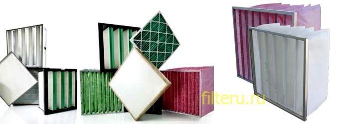 Варианты фильтров по используемому материалу