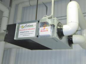 Приточно-вытяжное устройство с рекуператором для промышленных инкубаторов