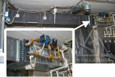 Система приточной вентиляции с водяным калорифером и смесительной группой