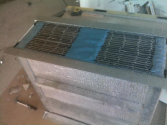 Рекуператор из металлических пластин