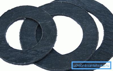 Паронит - прокладочный материал для пара и горячей воды.
