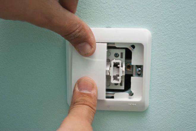 двухклавишный выключатель для вентилятора