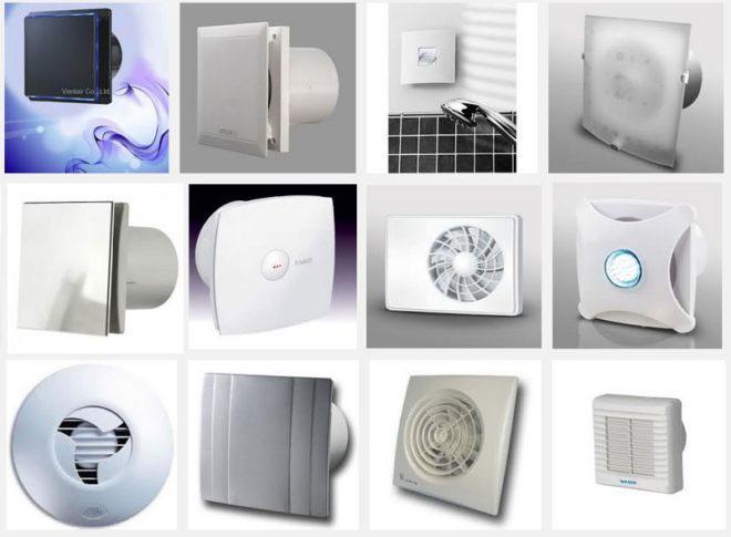 разновидности вытяжных вентиляторов для ванной и санузла