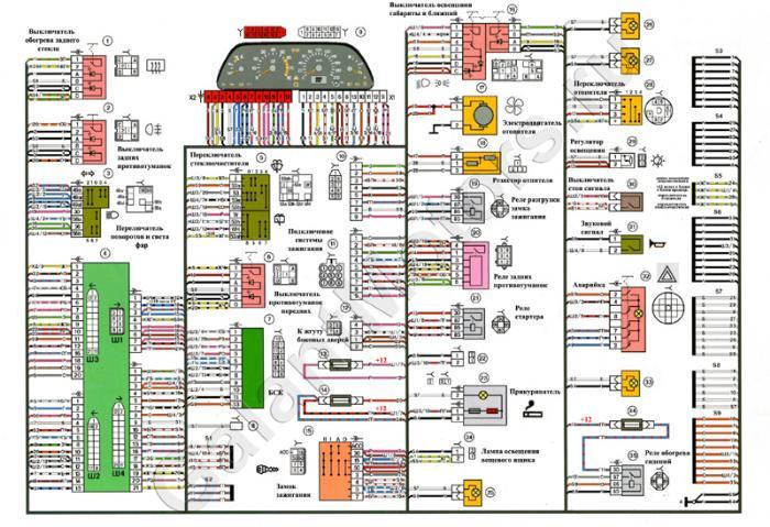 Общая схема электрооборудования ваз 2114 инжектор