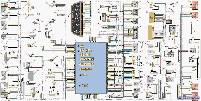 Схема электрооборудования ваз 2115 инжектор