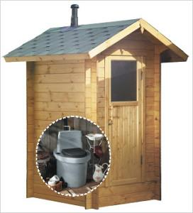 Типичный дачный туалет