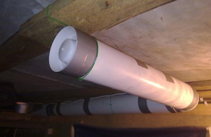 Комбинированная система вентиляции предполагает установку вытяжного вентилятора