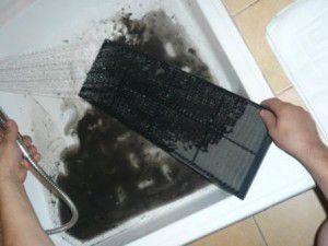 чистка механического воздушного фильтра