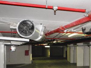 Система вентиляции на производственном помещении