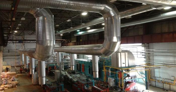 Вентиляционная система на производстве