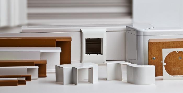 Виды пластиковых коробов для вентиляции и для кухонной вытяжки размерами 204х60
