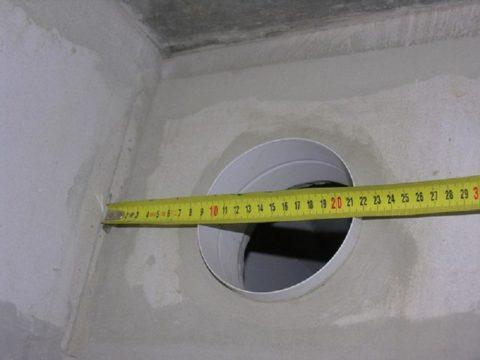 Стандартный диаметр принудительной вентиляции— 13см